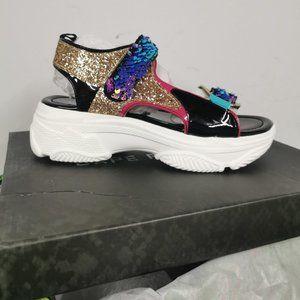 Cape Robbin Fashion Nova Sequin Platform Sandals